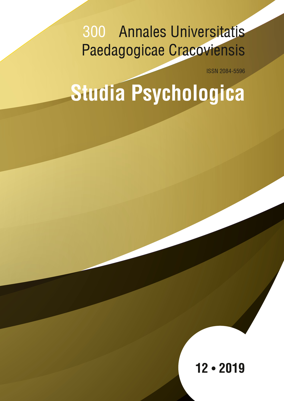 Annales Universitatis Paedagogicae Cracoviensis Studia Psychologica